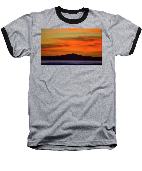 Sunrise Over Santa Monica Bay Baseball T-Shirt