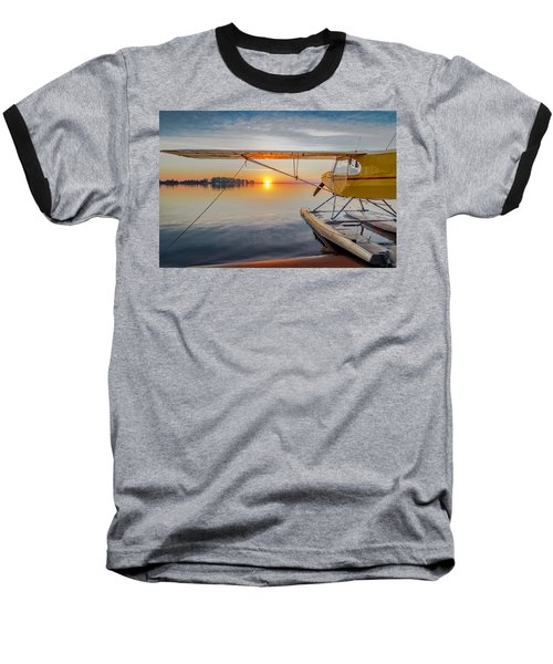 Sunrise Seaplane Baseball T-Shirt