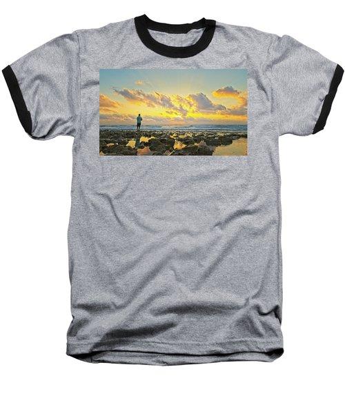 Sunrise Surf Fishing Baseball T-Shirt