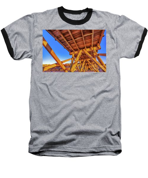 Sunrise Under The Sea Cabin Pier  Baseball T-Shirt