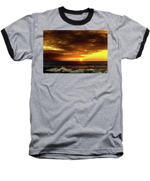 Sunset And Surf Baseball T-Shirt