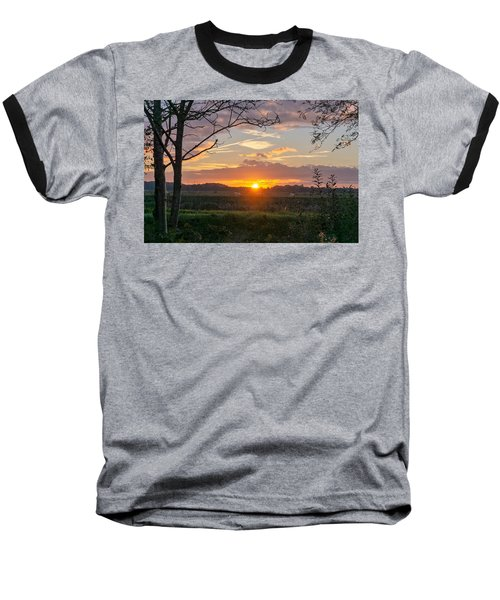 Baseball T-Shirt featuring the photograph Sunset by Anjo Ten Kate