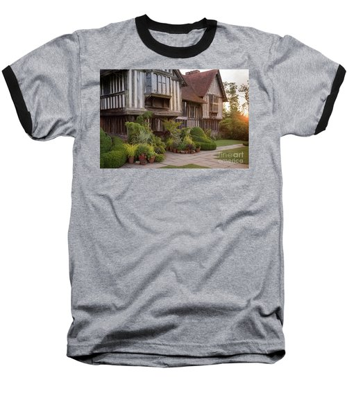 Baseball T-Shirt featuring the photograph Sunset At Great Dixter House And Gardens by Perry Rodriguez