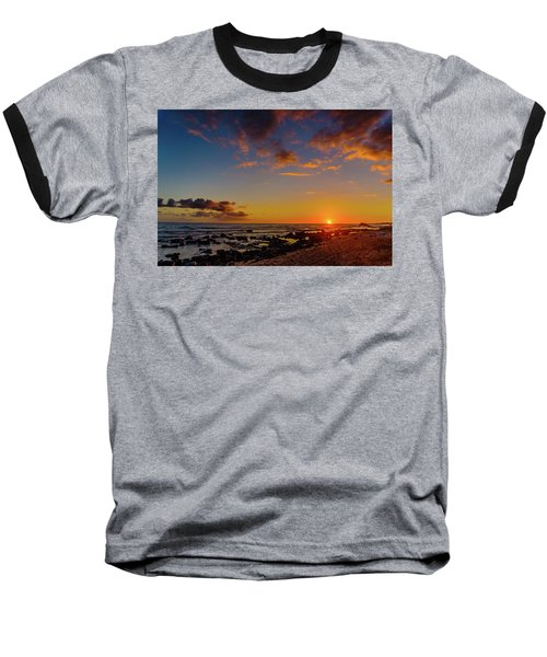 Sunset At Kailua Beach Baseball T-Shirt