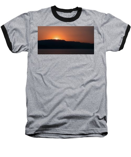 Sunset At Over The Mountains In The Red Sea Baseball T-Shirt