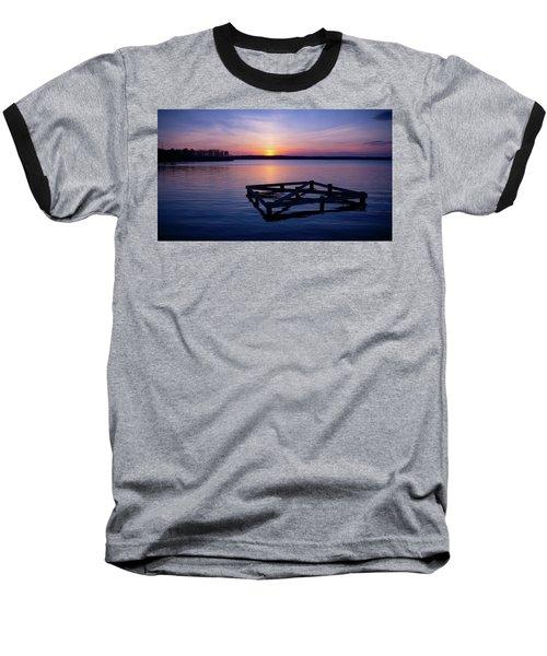 Sunset At The Reservoir  Baseball T-Shirt