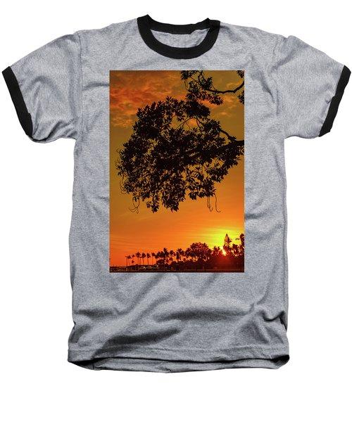 Sunset By The Pier Baseball T-Shirt