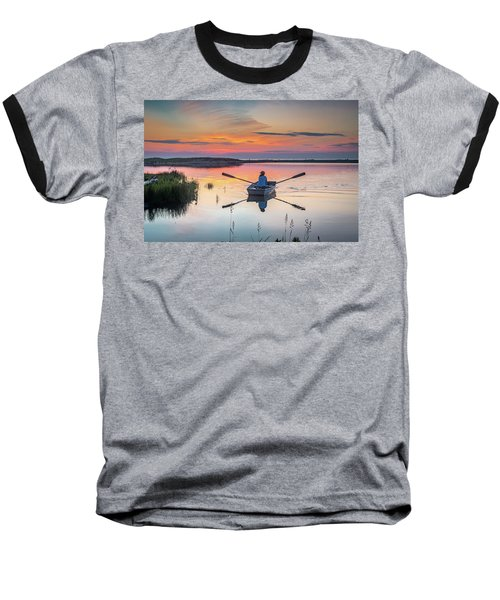 Sunset  Crossing Baseball T-Shirt