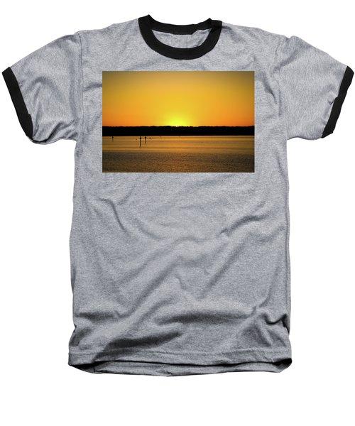 Sunset From National Harbor Baseball T-Shirt