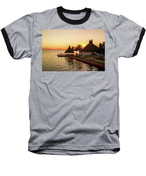 Sunset In Cancun Baseball T-Shirt