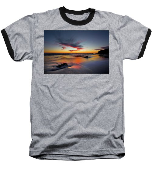 Sunset In Malibu Baseball T-Shirt