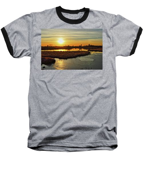 Sunset In Pitt Meadows Baseball T-Shirt