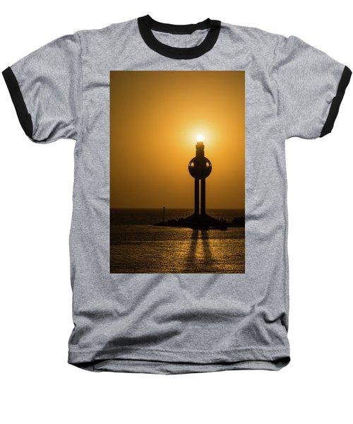 Sunset In Port Jeddah, Saudi Arabia Baseball T-Shirt
