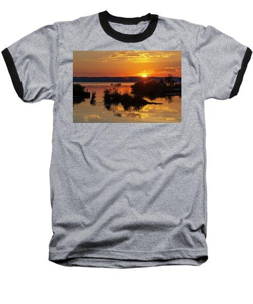 Sunset, Mallows Bay Baseball T-Shirt