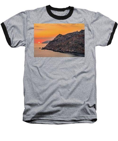 Sunset Near Cape Tainaron Baseball T-Shirt