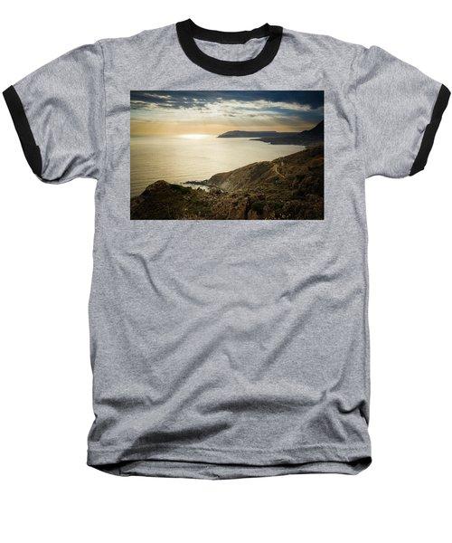 Sunset Near Tainaron Cape Baseball T-Shirt
