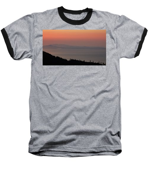 Sunset Of The Olympic Mountains Baseball T-Shirt