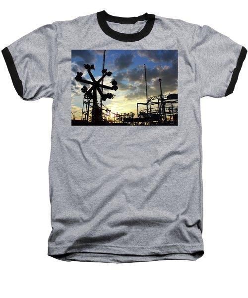 Sunset On Coney Island Baseball T-Shirt