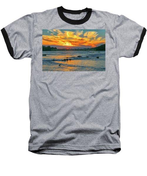 Sunset On The River  Baseball T-Shirt