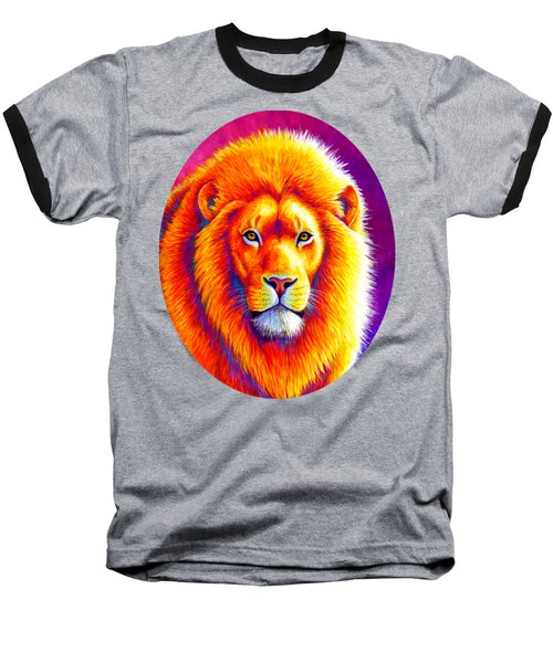 Sunset On The Savanna - African Lion Baseball T-Shirt