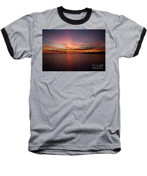 Sunset Over Canada Baseball T-Shirt