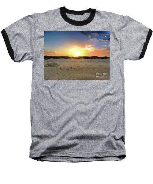 Sunset Over N Padre Island Beach Baseball T-Shirt
