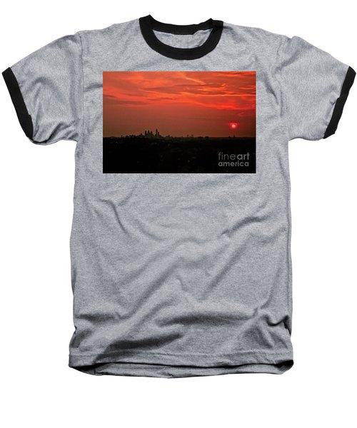 Sunset Over Philly Baseball T-Shirt
