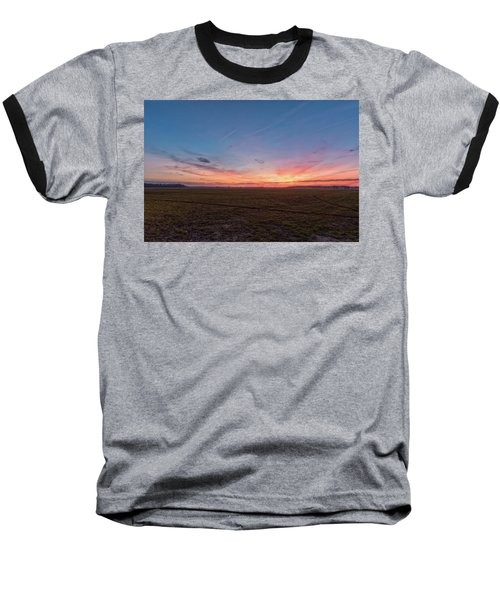 Sunset Pastures Baseball T-Shirt