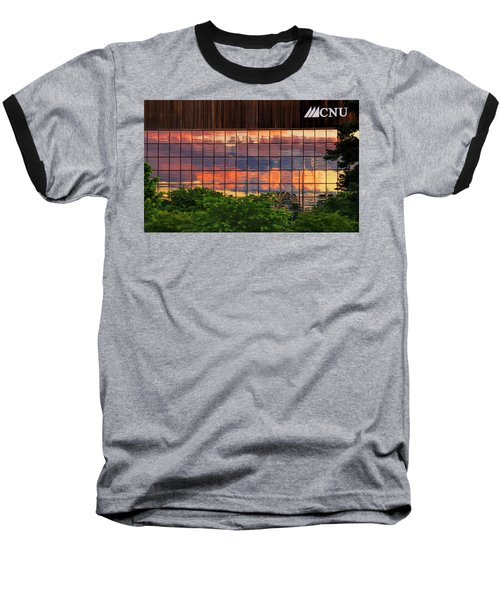 Sunset Reflections On A Wall Of Glass Baseball T-Shirt