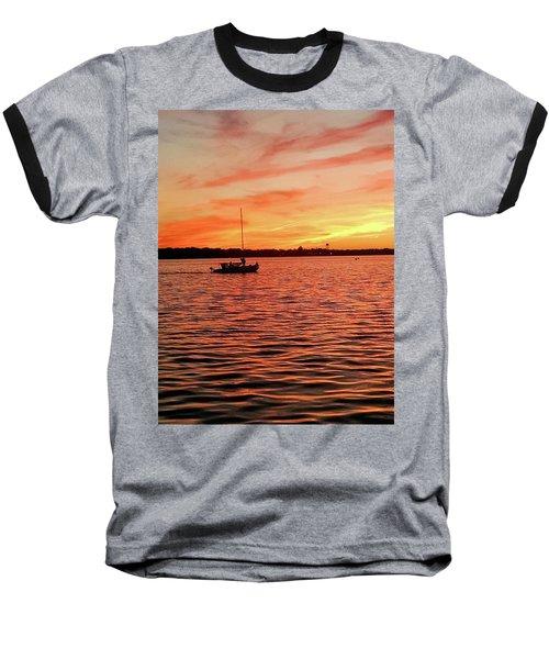 Sunset Sail Baseball T-Shirt