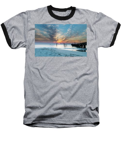 Sunset Seascape And Beautiful Clouds Baseball T-Shirt