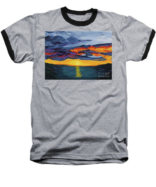 Sunset Streak Baseball T-Shirt