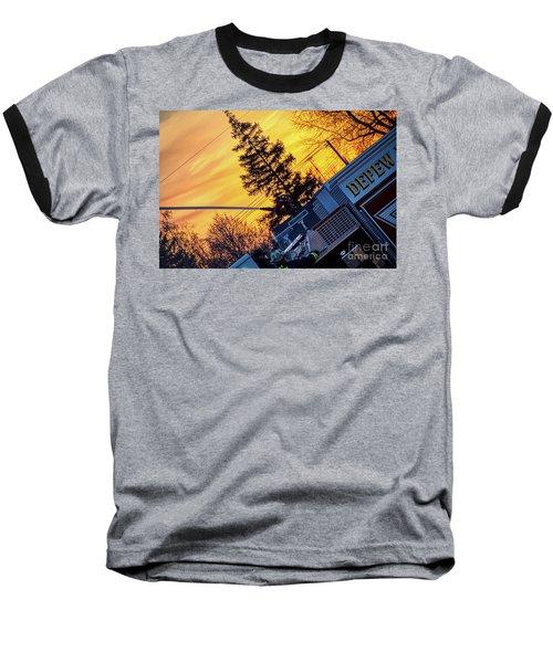Sunset Streams Baseball T-Shirt