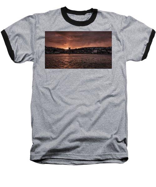 Sunset Harbour Baseball T-Shirt