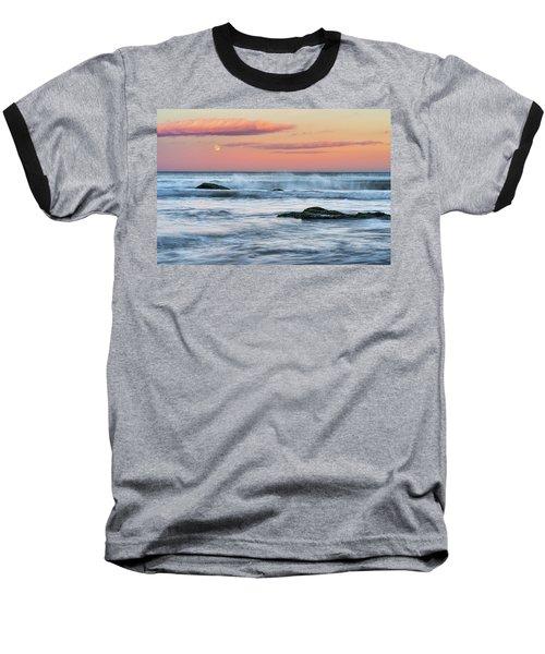 Super Moon And Sunset At Sozopol Town Beach Baseball T-Shirt
