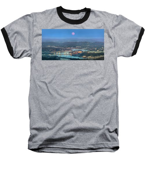 Super Moon Over Chattanooga Baseball T-Shirt
