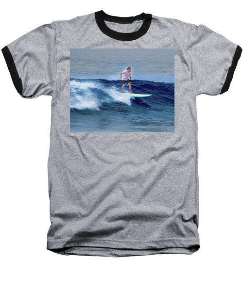 Surfing Andy Baseball T-Shirt