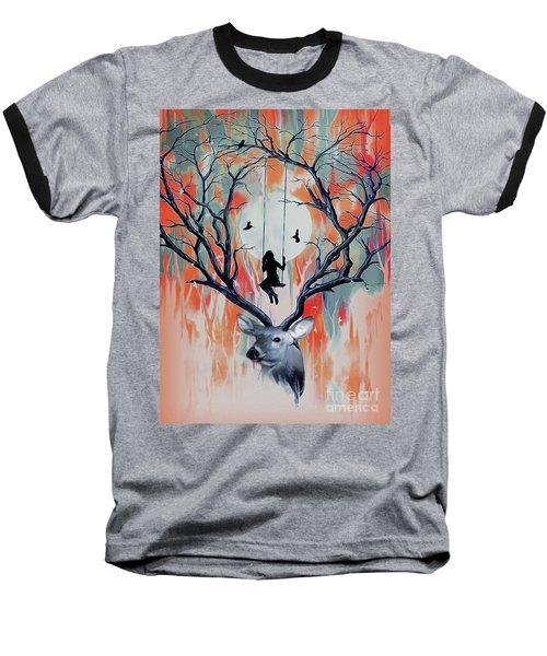 Surreal Deer Art  Baseball T-Shirt