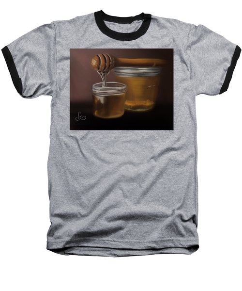Baseball T-Shirt featuring the painting Sweet Honey by Fe Jones