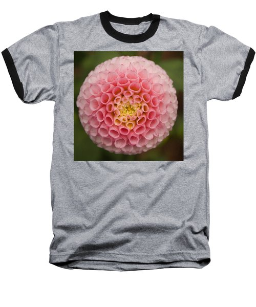 Symmetrical Dahlia Baseball T-Shirt
