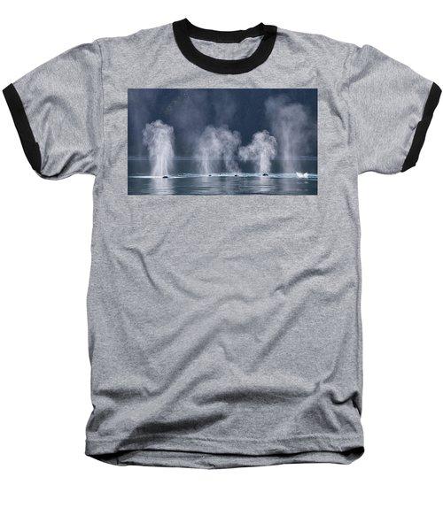 Synchronized Swimming Humpback Whales Alaska Baseball T-Shirt