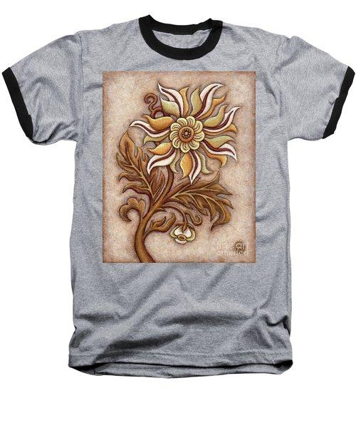 Tapestry Flower 1 Baseball T-Shirt