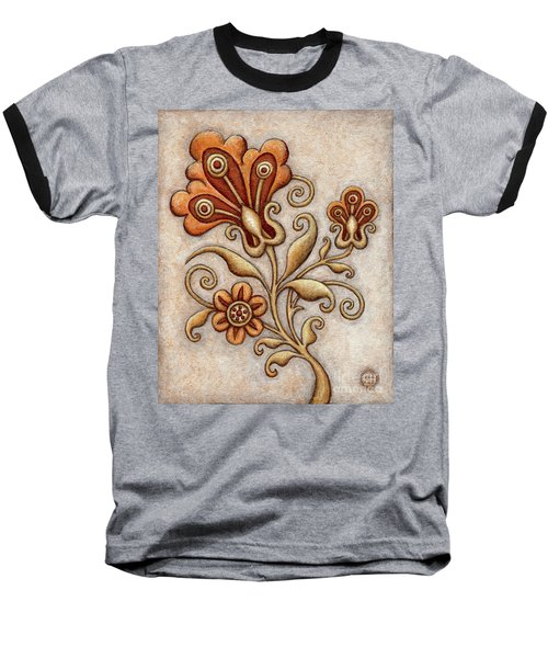 Tapestry Flower 3 Baseball T-Shirt