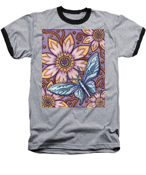Tapestry Butterfly Baseball T-Shirt