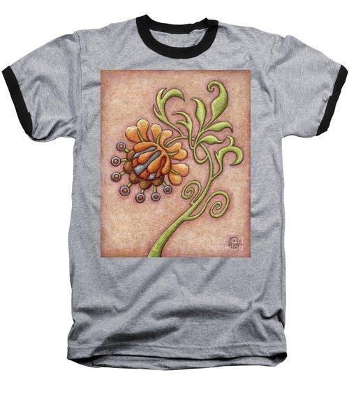 Tapestry Flower 10 Baseball T-Shirt