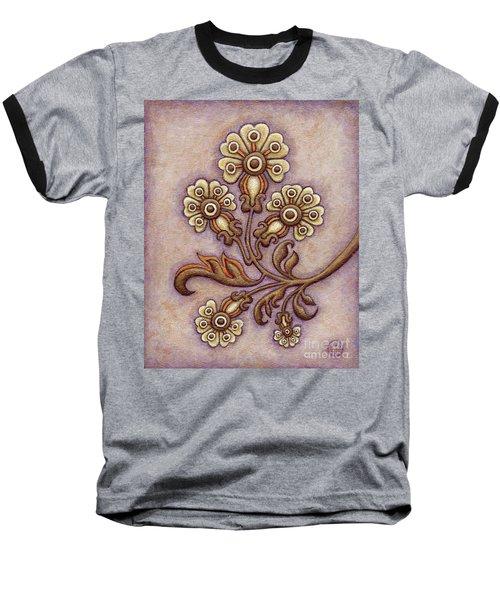 Tapestry Flower 4 Baseball T-Shirt