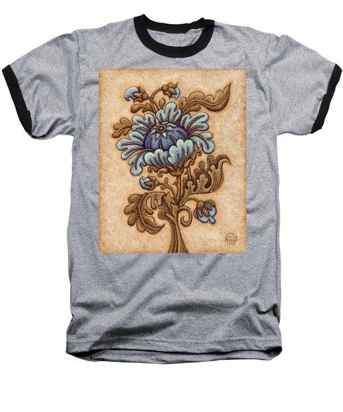 Tapestry Flower 5 Baseball T-Shirt