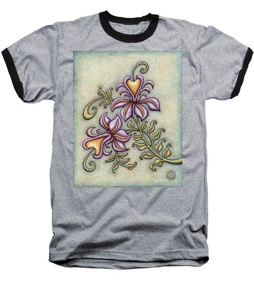 Tapestry Flower 8 Baseball T-Shirt