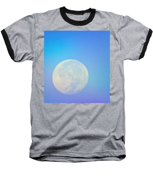 Baseball T-Shirt featuring the photograph Taurus Almost Full Moon Blend by Judy Kennedy