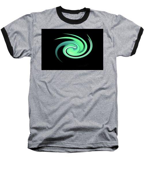 Teal Swirling Magnolia Baseball T-Shirt